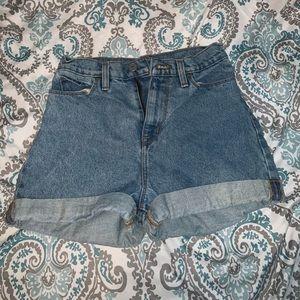 BDG high waisted denim shorts